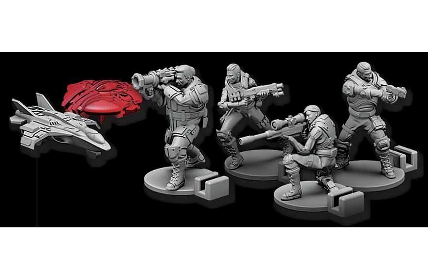 XCOM miniatures heros